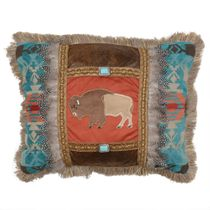 Sunset Vista Feather Buffalo Pillow