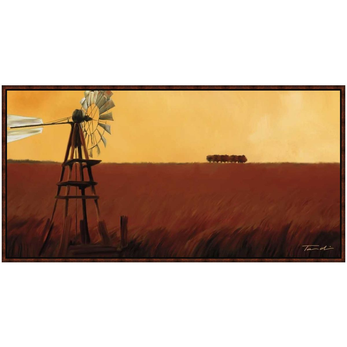 Sunset Windmill Canvas Art