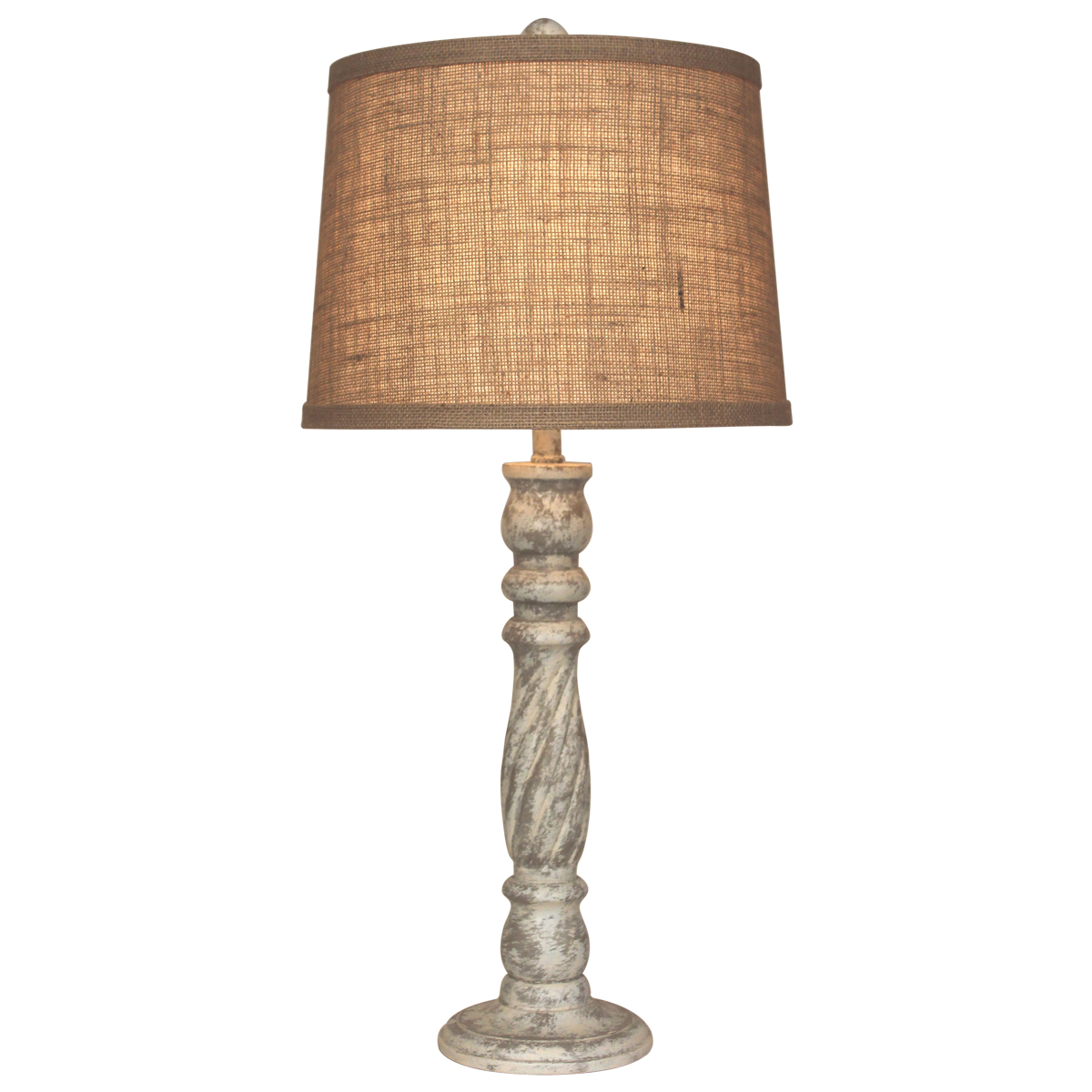 Swirled Candlestick Table Lamp
