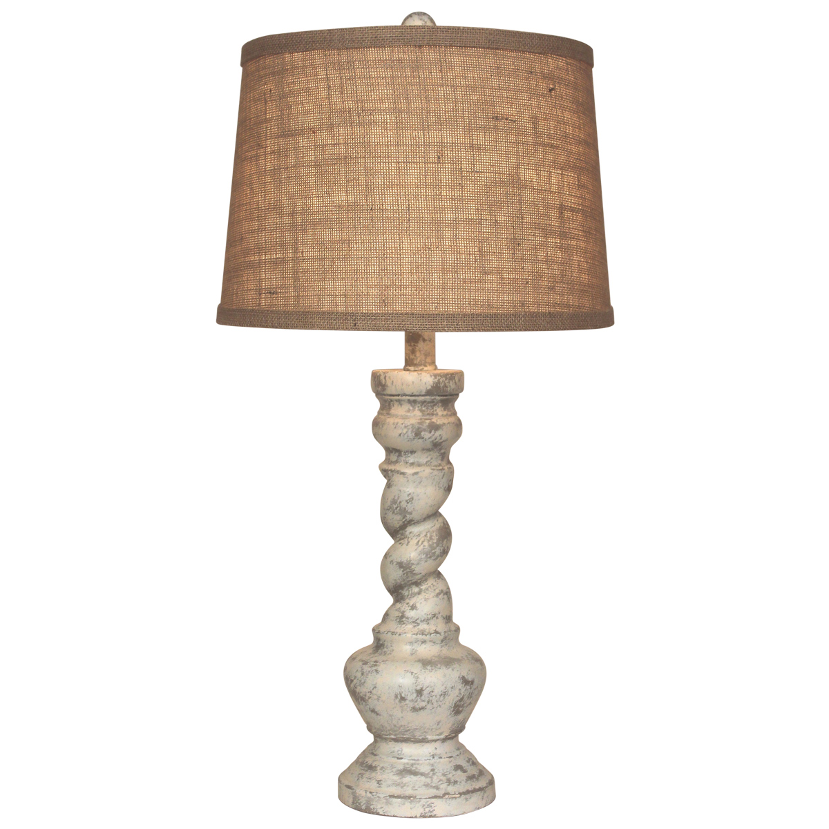 Swirled Faux Stone Table Lamp