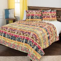 Sylus Striped Quilt Set - Full/Queen