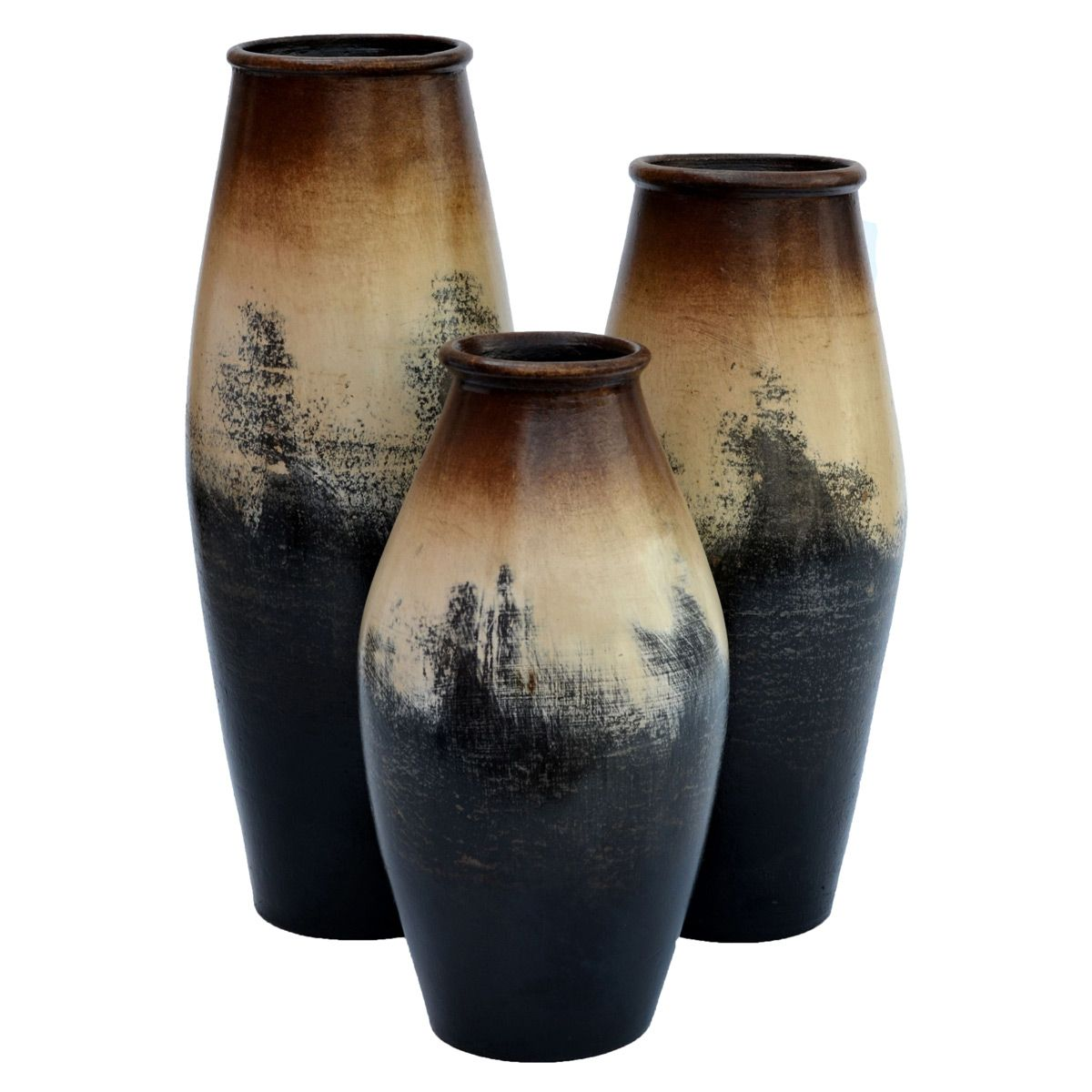 Tall Salado Vases - Set of 3