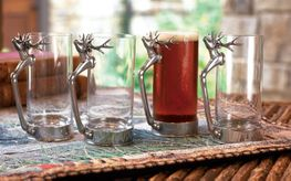 Tall Stag Glass Set (set of 4)