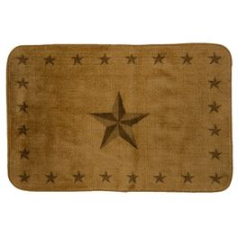 Tan Star Bath Rug - 2 x 3
