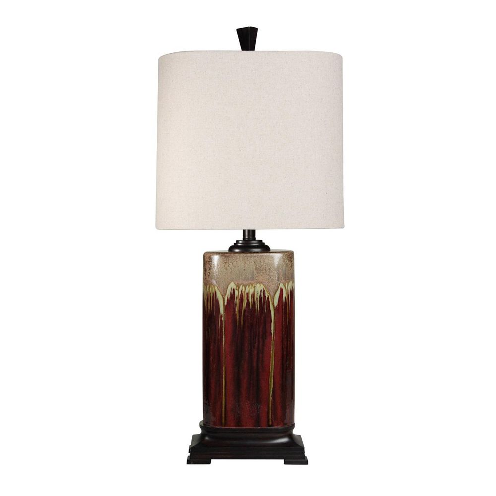 Tandori Spice & Arabic Drip Ceramic Table Lamp