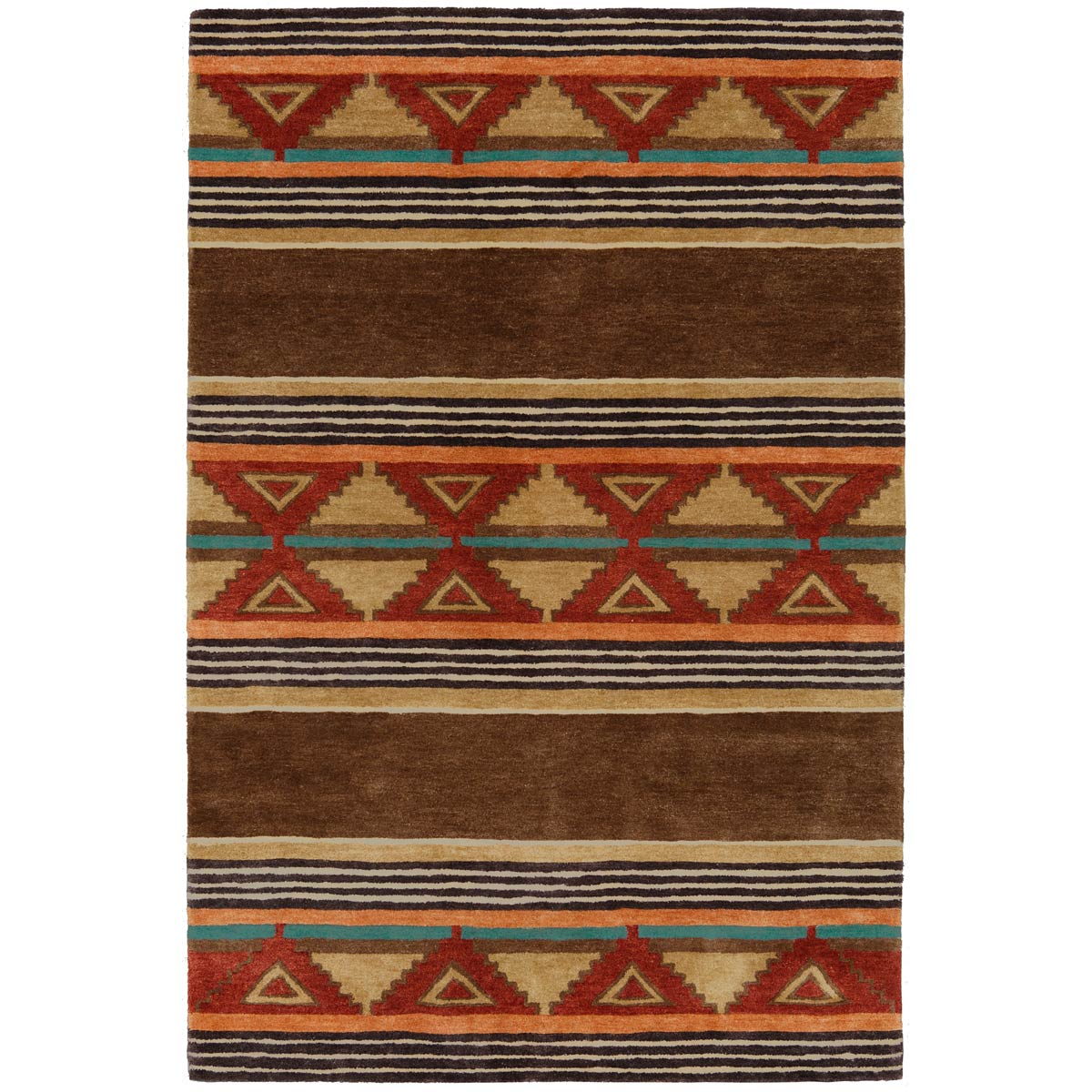 Taos Brown Rug - 5 x 7