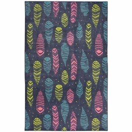 Taos Feathers Blue Rug Collection