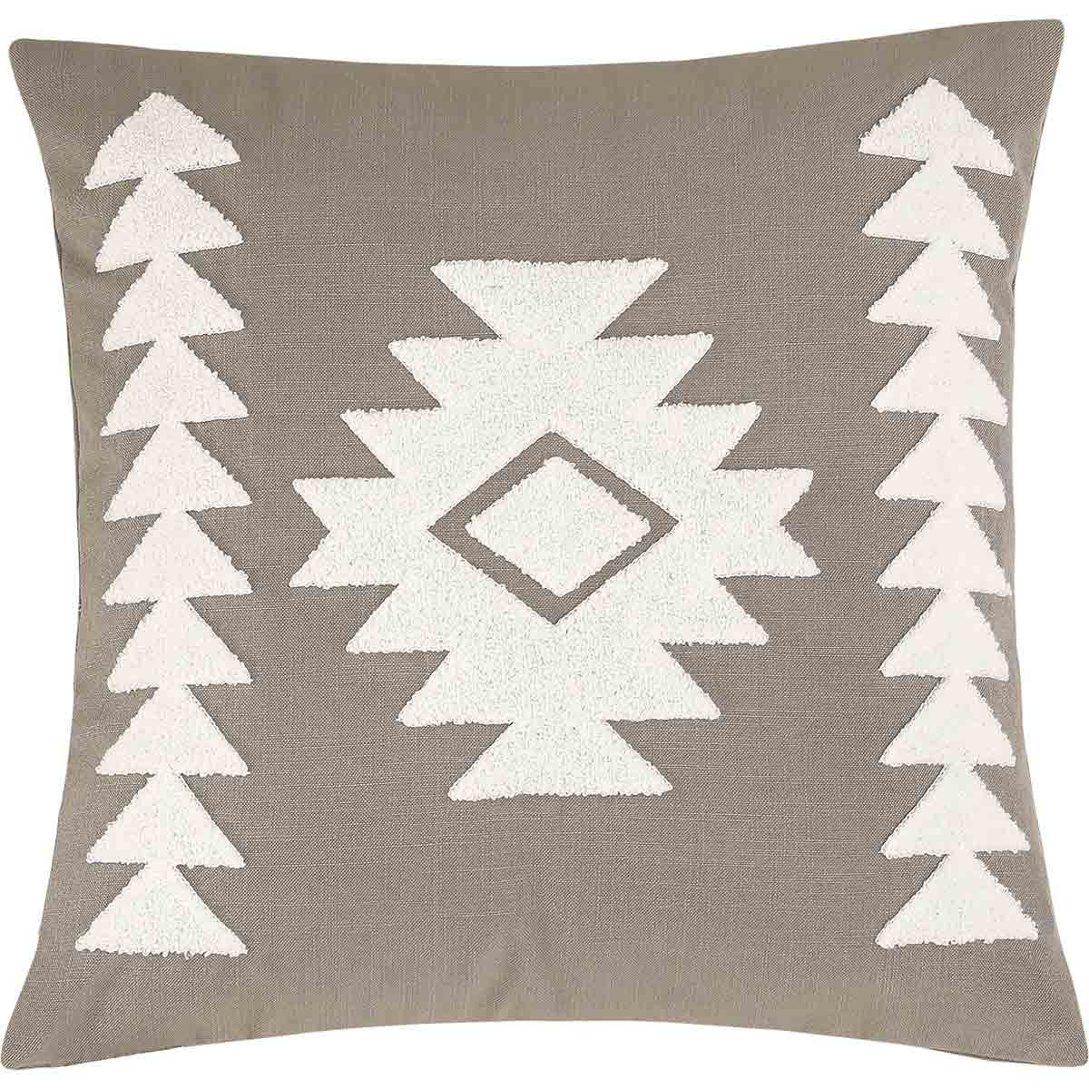 Taupe Diamond Pillow