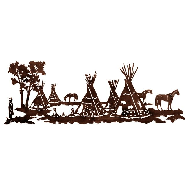 Tepee Village Metal Wall Art