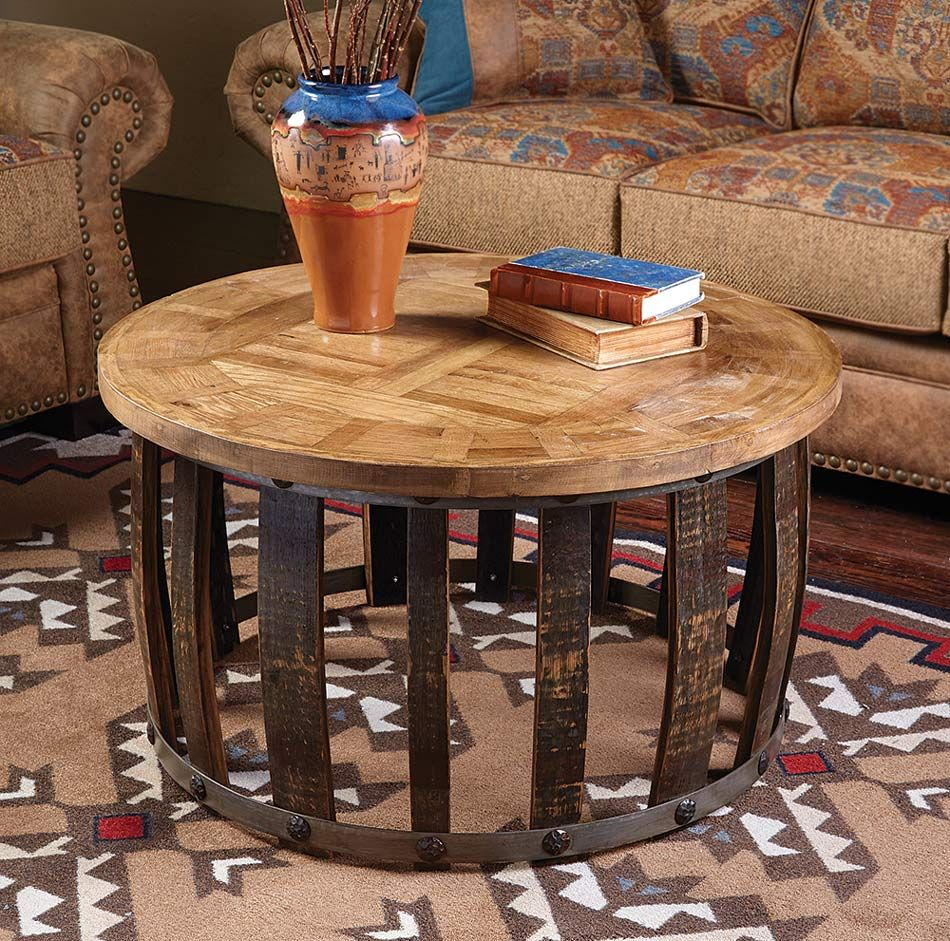 Tequila Stave Round Coffee Table