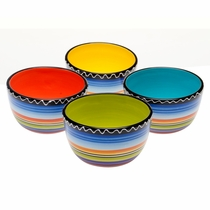 Tequila Sunrise Ice Cream Bowls - Set of 4