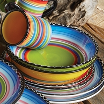 Tequila Sunrise Soup & Pasta Bowls - Set of 4