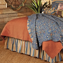 Terracotta Matelasse Quilt - Full/Queen