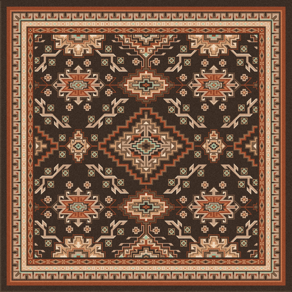 Teton Lodge Rug - 8 Ft. Square