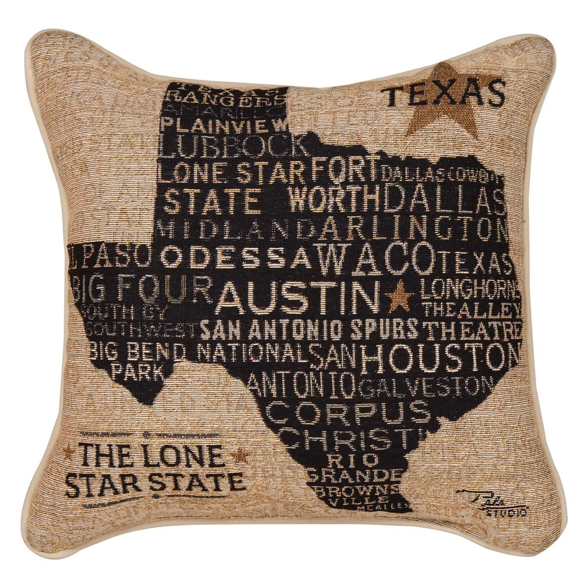 Texan Pride Tapestry Pillow