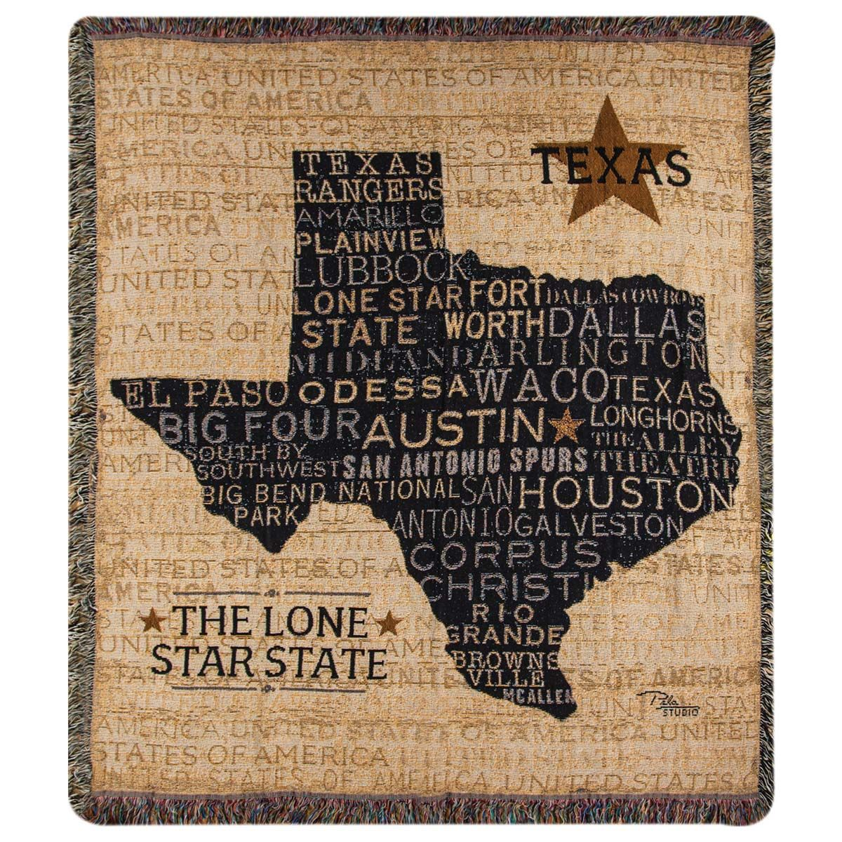 Texan Pride Tapestry Throw