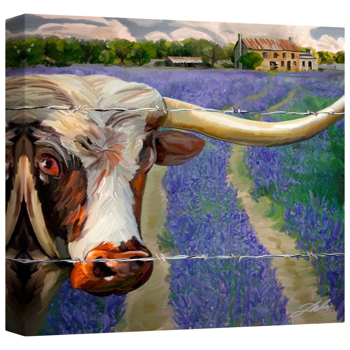 Texas BB Canvas Wall Art