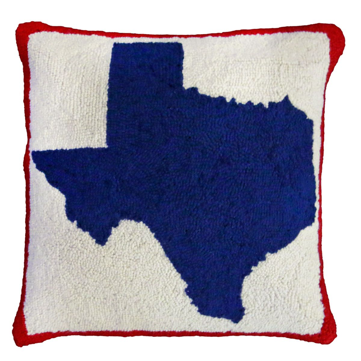 Texas Hooked Wool Pillow