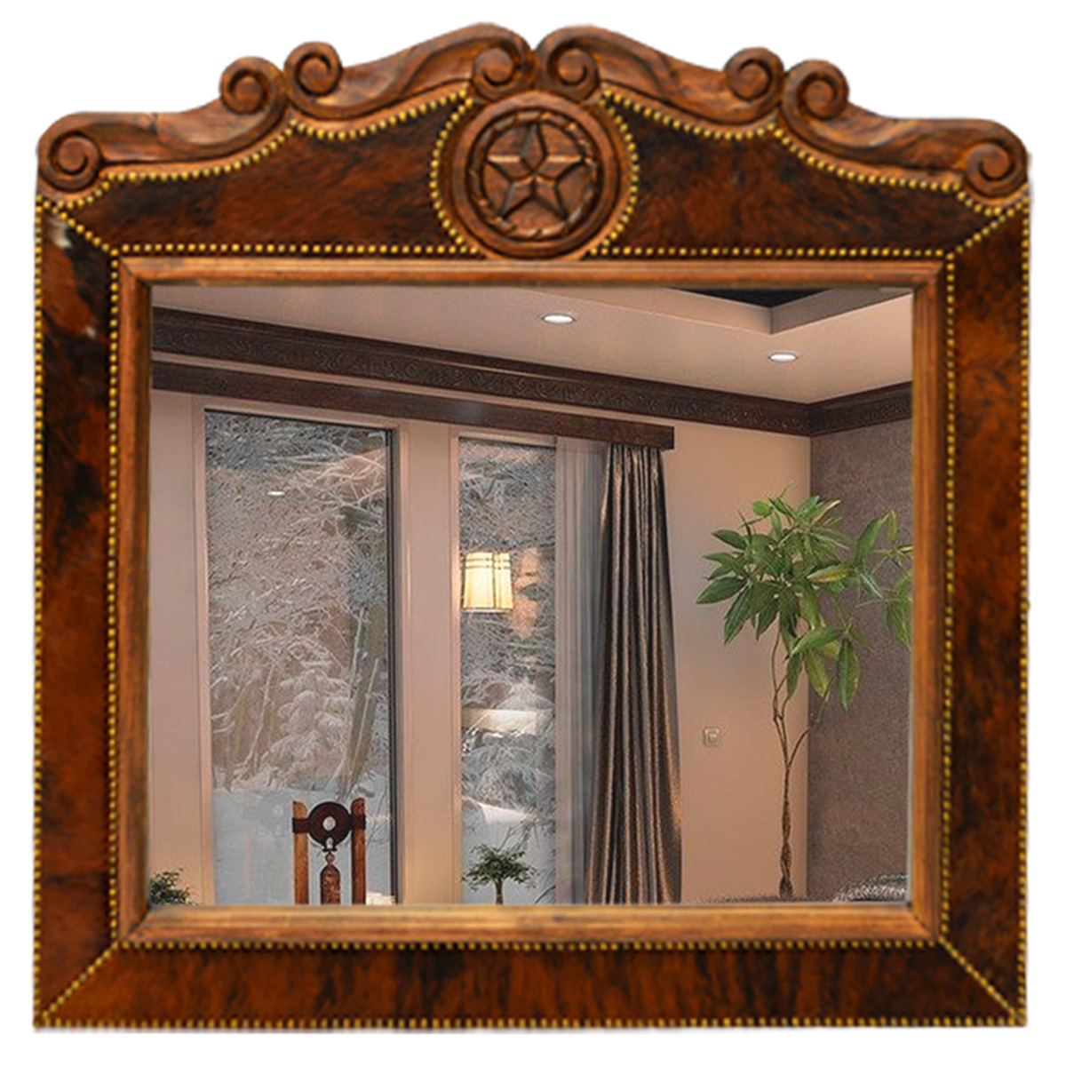 Texas Star Cowhide Mirror