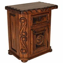 Texas Star Cowhide Nightstand