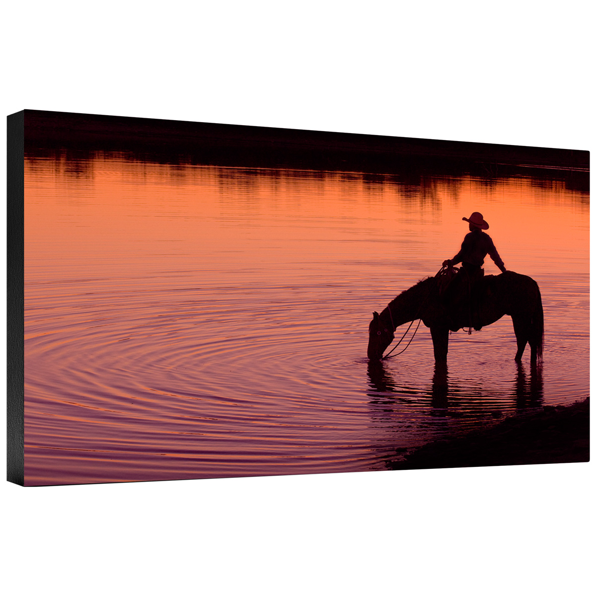 Texas Sunset Gallery Wrapped Canvas