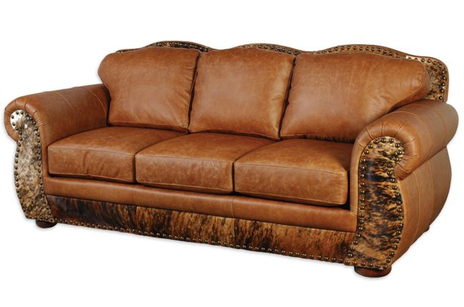 The Legend Weston Pecan & Hair on Hide Sofa