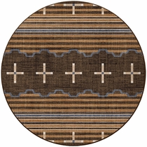 Three Chiefs Gray Rug - 8 Ft. Round