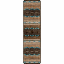 Three Chiefs Suede & Teal Rug - 2 x 8