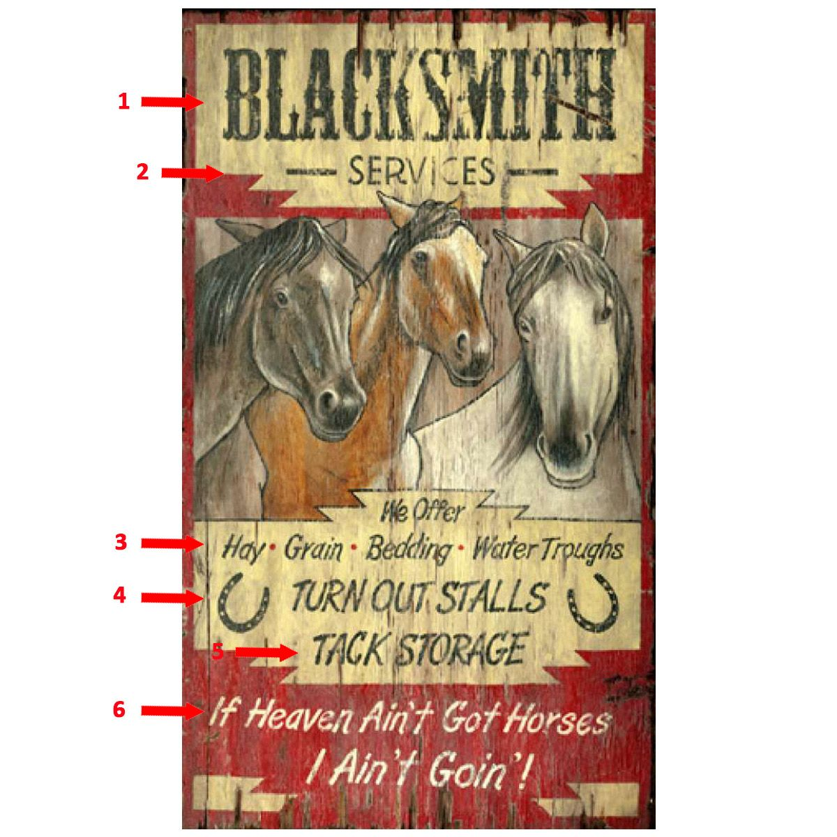Three Horses Personalized Sign