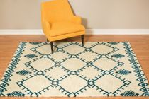 Thunderbird Cream Rug - 8 x 11