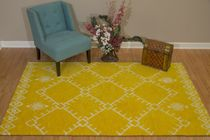 Thunderbird Yellow Rug - 2 x 3