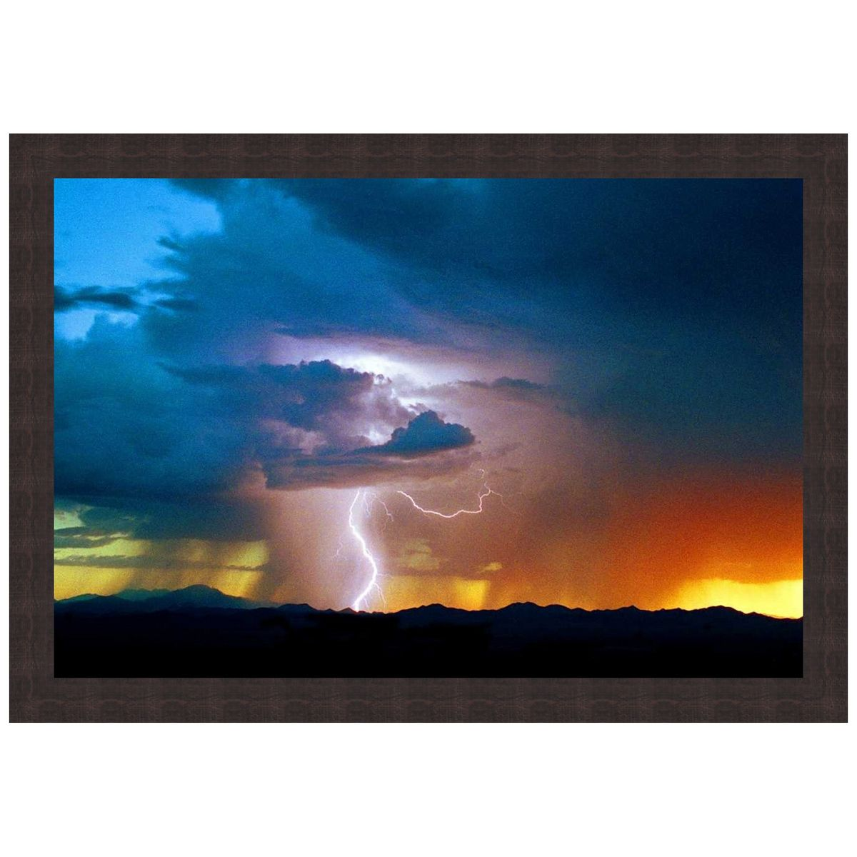 Thunderstorm Over the Foothills Framed Art