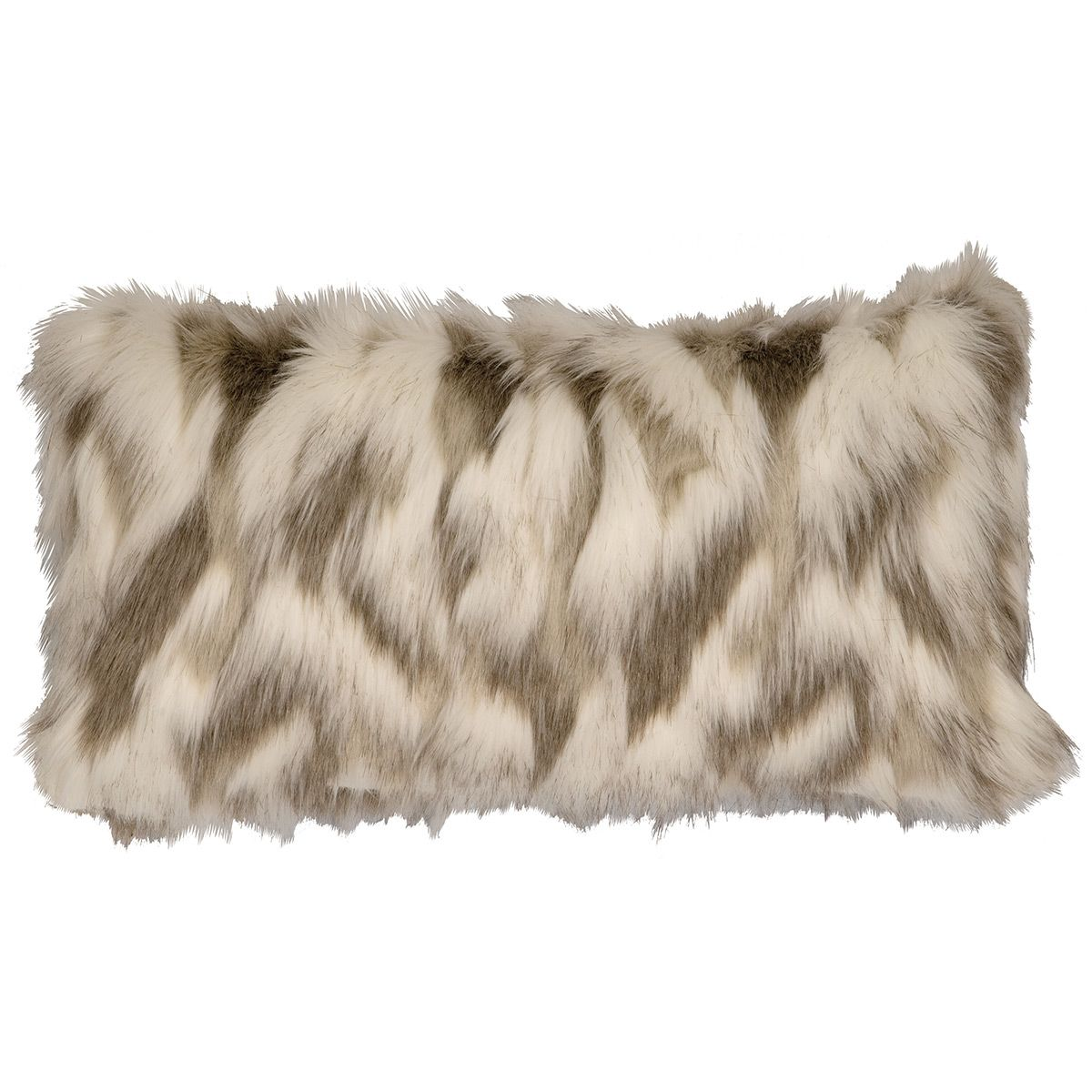 Tibetan Fox Faux Fur Rectangle Pillow