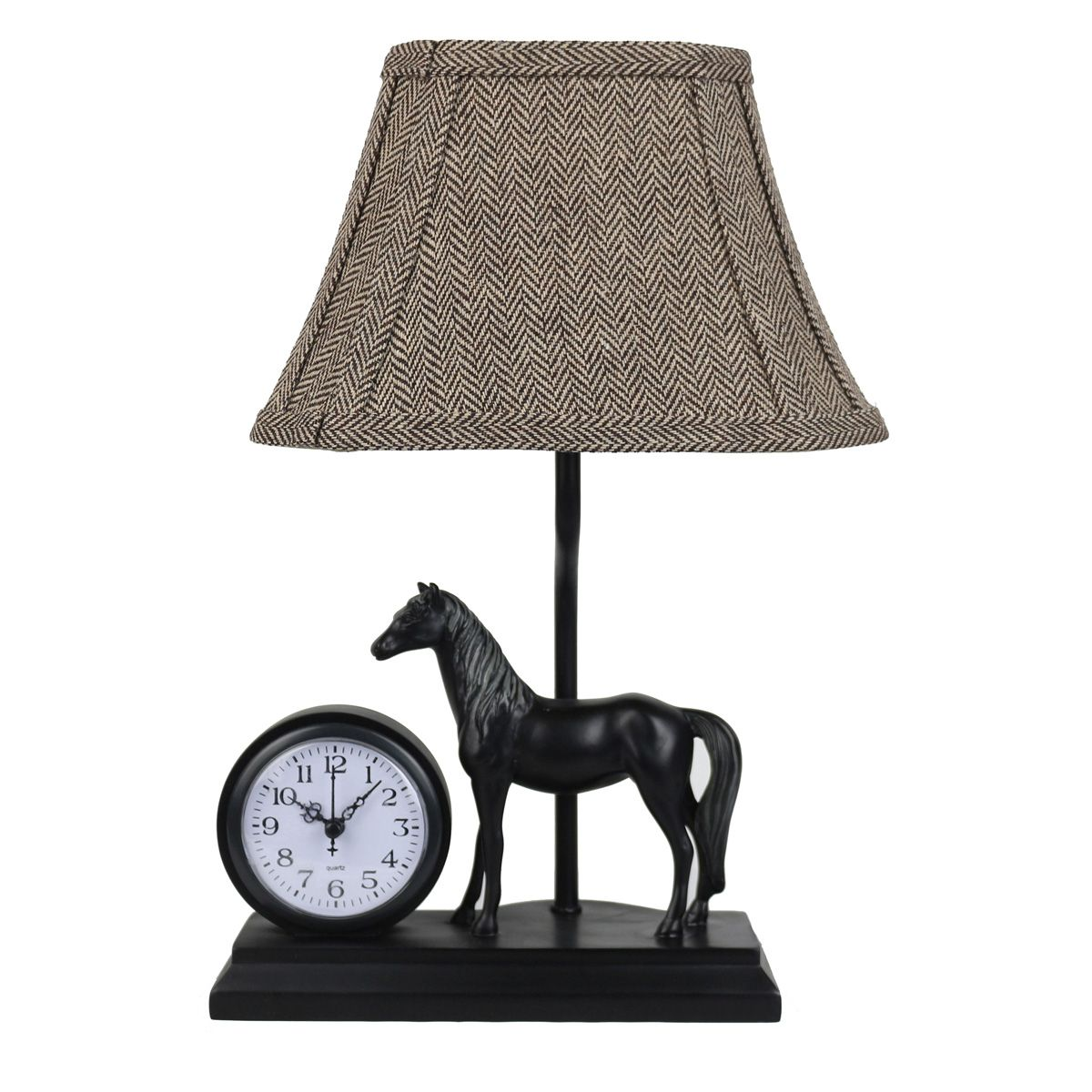 Time to Win Horse Accent Lamp with Clock