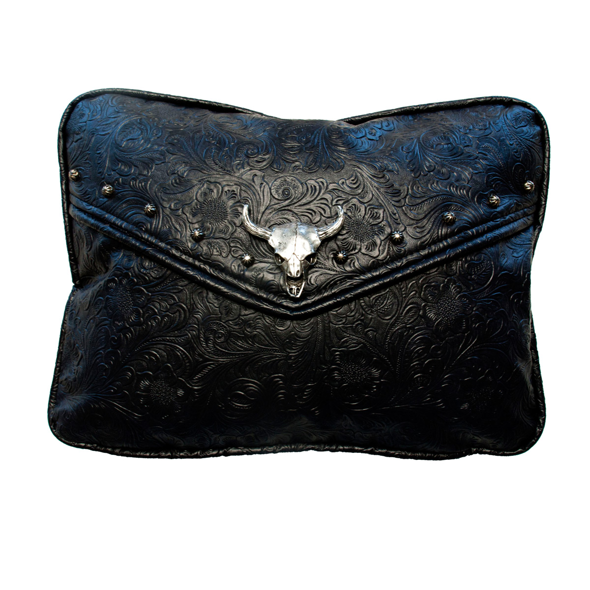 Tooled Black Accent Pillow