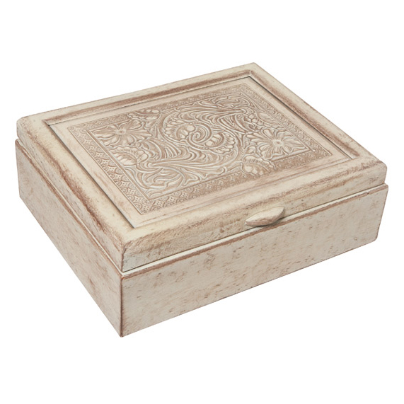 Tooled Leather Keepsake Box