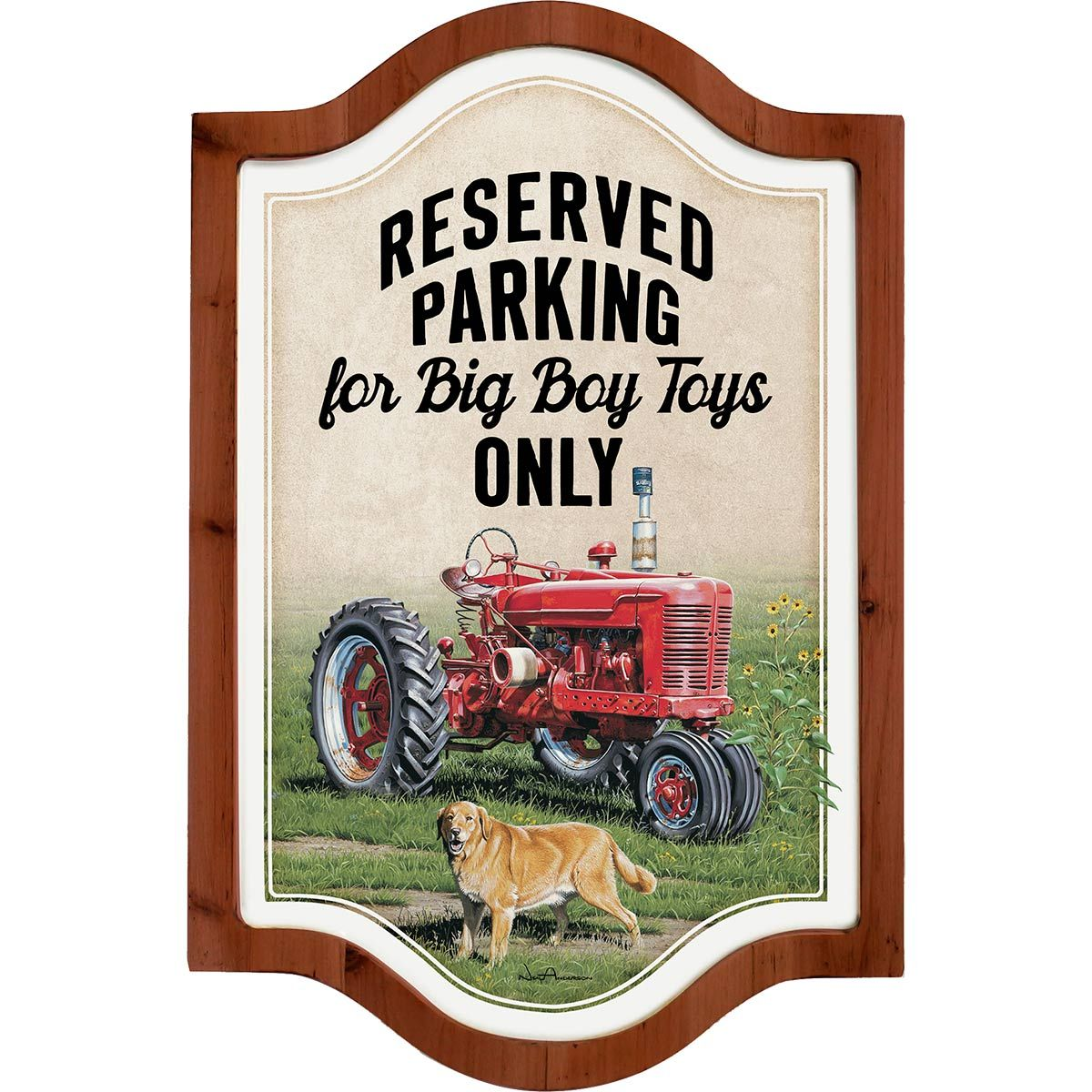 Tractors Only Framed Metal Sign