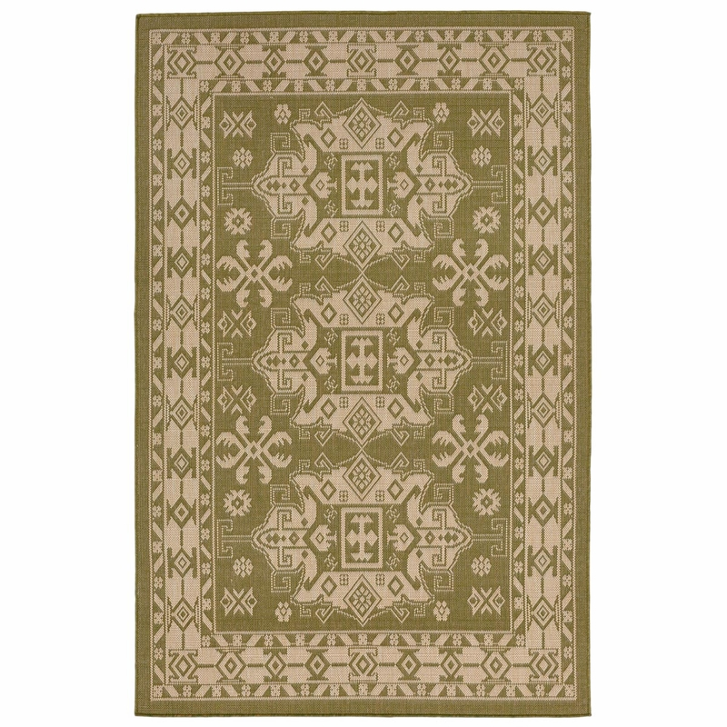 Traditions Green Indoor Outdoor Rug 3 X 5