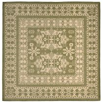 Traditions Green Indoor/Outdoor Rug - 8 Ft. Square