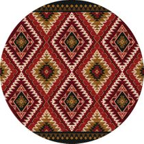 Traditions Rust Rug - 8 Ft. Round