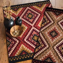 Traditions Rust Rug - 8 x 11