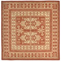 Traditions Terracotta Indoor/Outdoor Rug - 8 Ft. Square