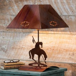 Trail of Tears Indian Bedside Lamp