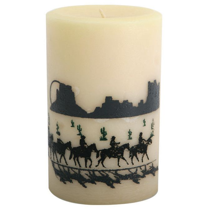 Trail Riders Pillar Candle - 4 Inch