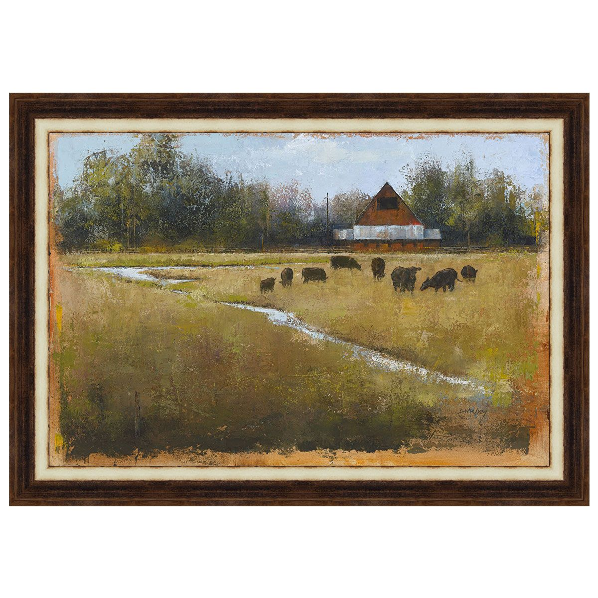 Tranquil River Framed Canvas