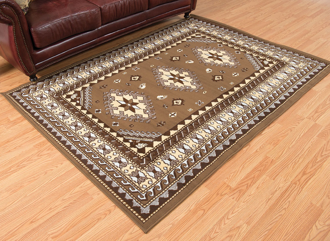 Tres Diamonds Beige Rug - 8 x 11