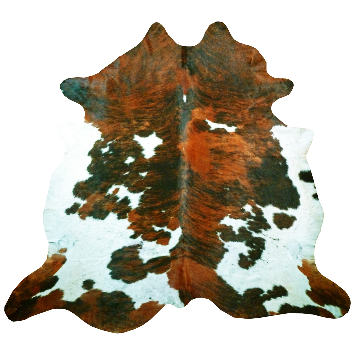 Tri-Color Exotic Rare Cowhide - Extra Large