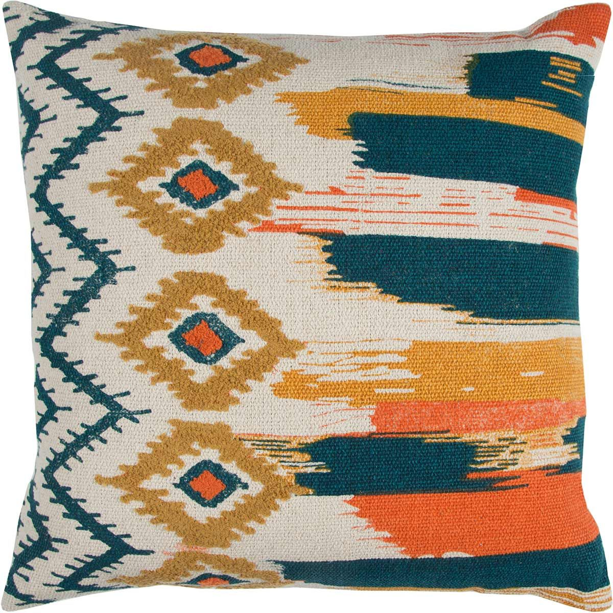 Tribal Brushstrokes Pillow - Navy