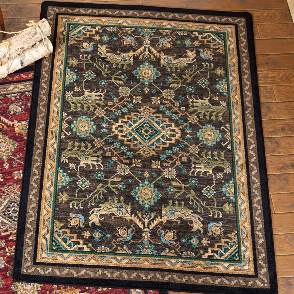 Tribal Echoes Deepwoods Rug - 8 Ft. Square