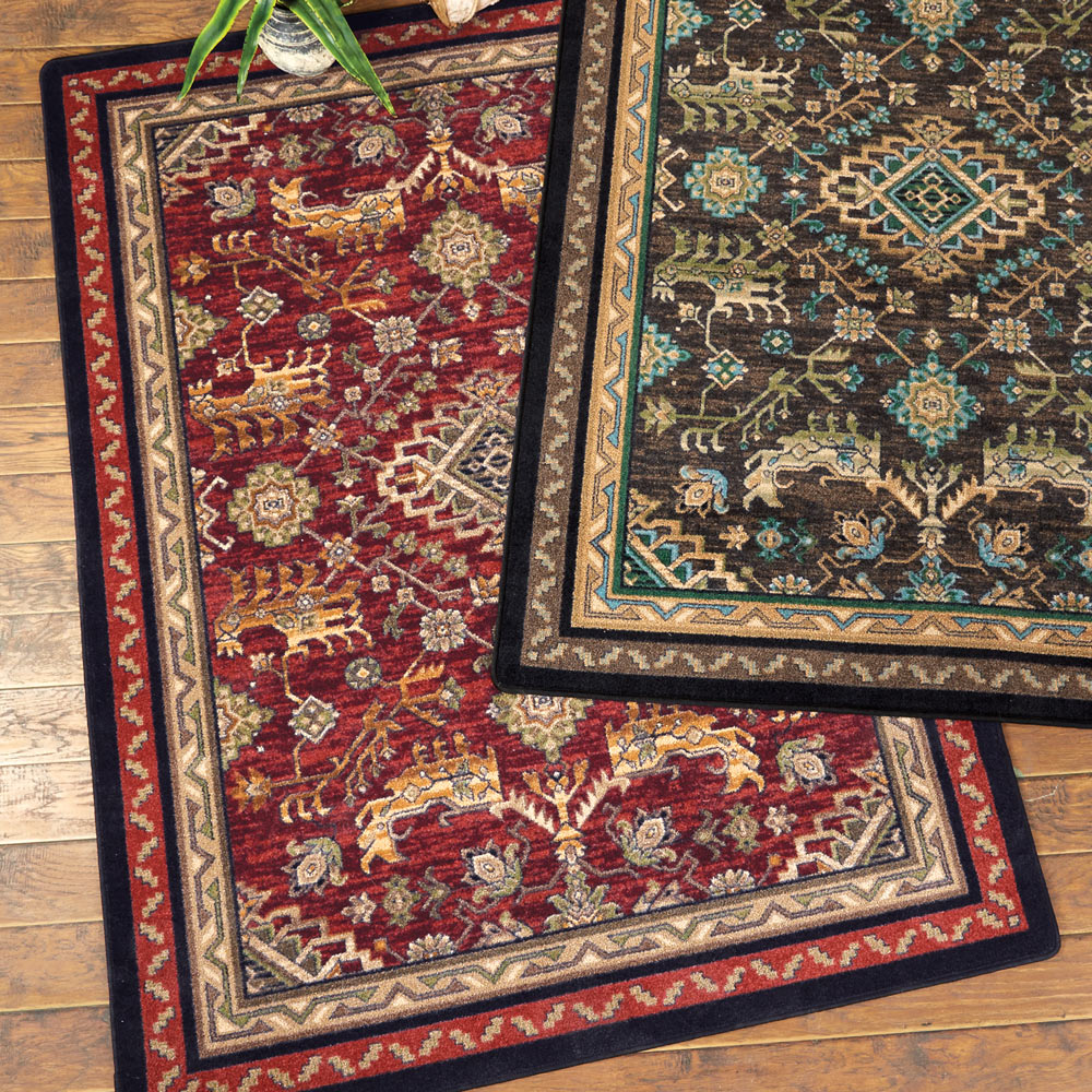 Tribal Echoes Rosewood Rug - 5 x 8